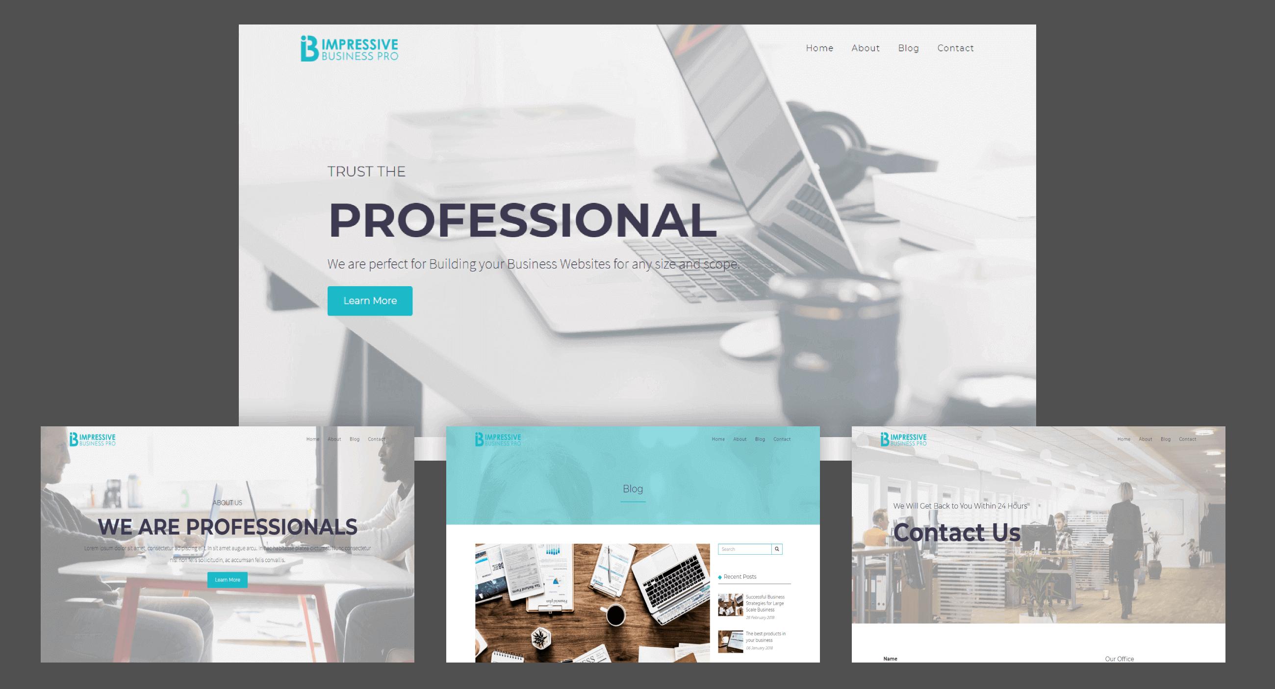 Impressive Business Pro WordPress Theme   VoilaThemes