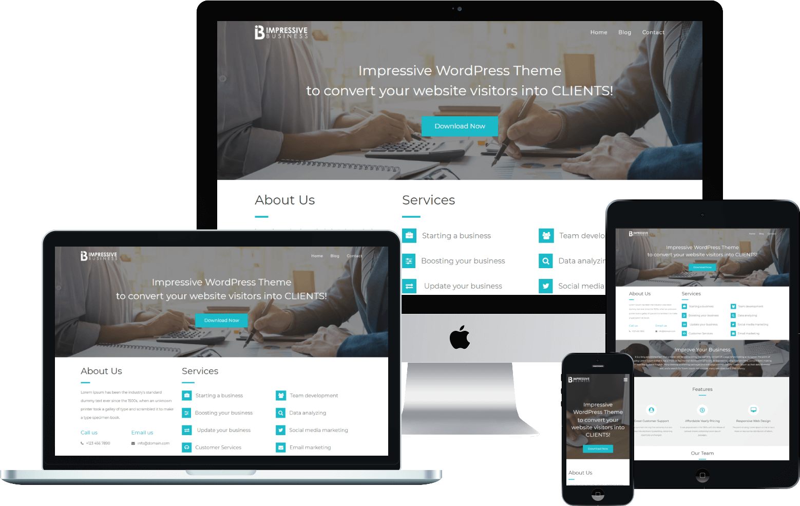 Impressive Business WordPress Theme   VoilaThemes